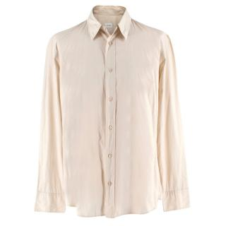 Jil Sander Beige Cotton Tailor Made Long Sleeve Shirt