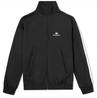 Balenciaga Taped Contrast Stripe Track Jacket