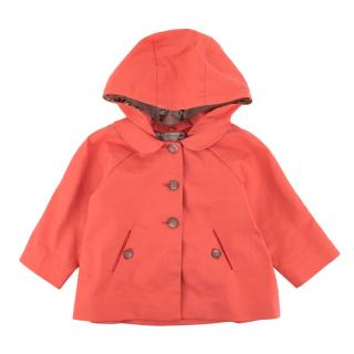 Bonpoint Coral Cotton Blend Hooded Jacket