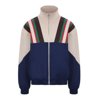 Gucci Web Stripe Tech Jersey Jacket