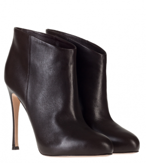 Gianvito Rossi Black Leather Booties