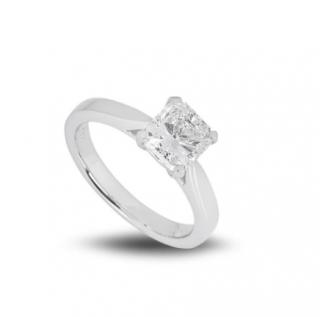 Bespoke Platinum Radiant Cut Diamond Ring