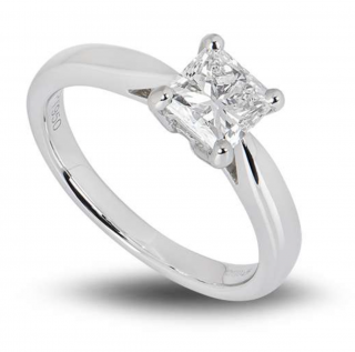 Bespoke Platinum Princess Cut Diamond Ring