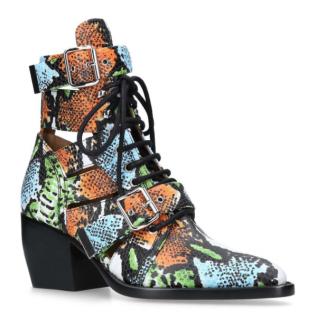 Chloe Snake Print Rylee Boots 60