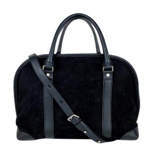 Proenza Schouler Black Suede & Leather Bergen bag
