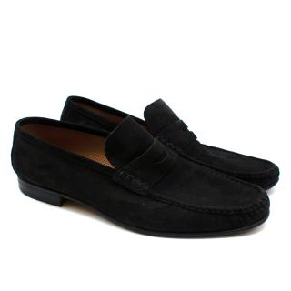 Siemar Black Suede Soft Loafers