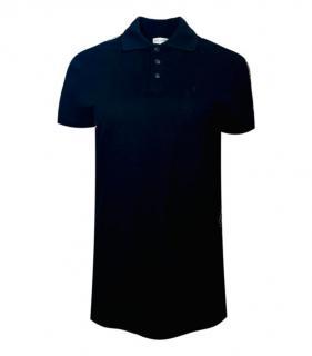 Saint Laurent Black Polo T-Shirt.