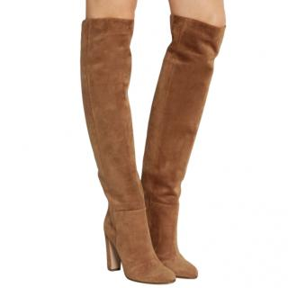 Gianvito Rossi Tan Suede over-the-knee boots