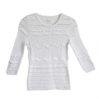 Isabel Marant Etoile white crochet knit jumper