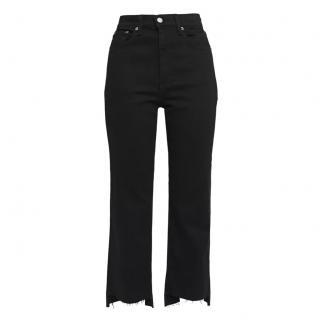 Rag & Bone Black Byan Stove Pipe Cropped Jeans