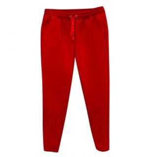 Zoe Karssen Red Cotton Blend Joggers