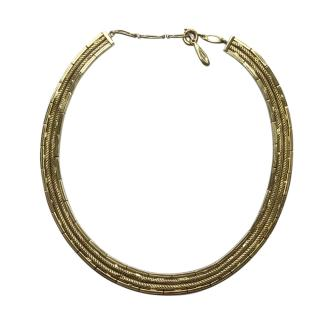 Christian Dior Vintage Gold Plated Collar Necklace