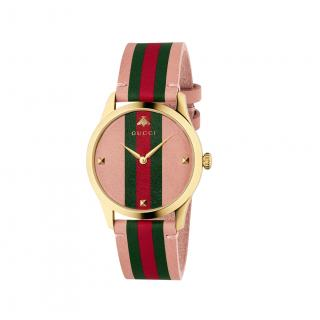 Gucci pink web strap watch 38mm