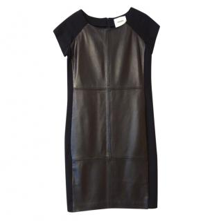 Max & Moi black leather panelled dress