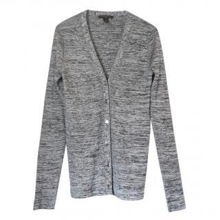 Louis Vuitton grey marl skinny fit silk blend cardigan