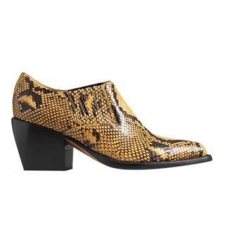 Chloe Rylee low boot in python print calfskin