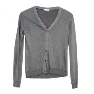Prada Grey Wool Blend Cardigan