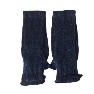 Missoni black long lurex gloves