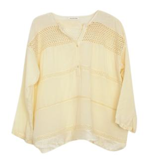 Isabel Marant yellow cotton ruffle top