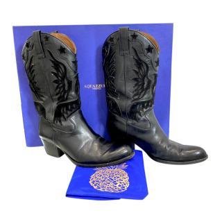Aquazurra black Imperial Cowboy Boots