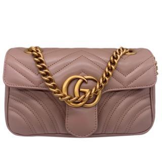 Gucci Mini Marmont Leather Shoulder Bag