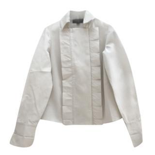 Giambattista Valli Wool & Silk Ruffled Blouse