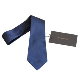 Bottega Veneta Blue Silk Tie