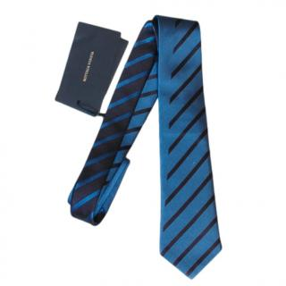 Bottega Veneta Blue Striped Silk Tie