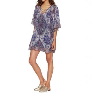 Joie Purple Silk Printed Kaftan
