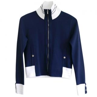 Chanel Navy & White Lightweight Sport Jacket