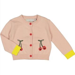 Stella McCartney Kids Cherry Applique Organic Cotton Cardigan
