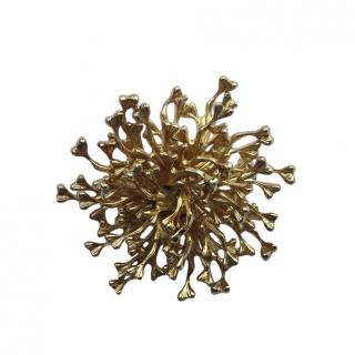 Christian Dior Vintage Gold Plated Pin Brooch