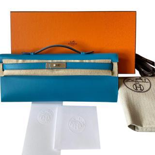 Hermes Swift Leather Blue Frida Kelly Cut PHW