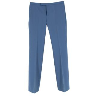 Celine Blue Cotton Tailored Trousers
