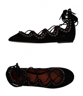 Isabel Marant Leo Lace-Up Ballerinas