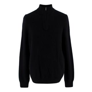 Naked Cashmere Black Zip Up Turtleneck Jumper