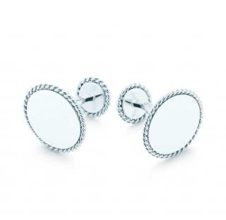 Tiffany & Co. Sterling Silver Twist Round Cufflinks