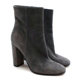 Gianvito Rossi Grey Suede Heeled Ankle Boots