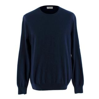 Gieves & Hawkes Navy Blue Jumper