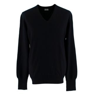 Spencer Hart Palm Springs Black V-Neck Jumper
