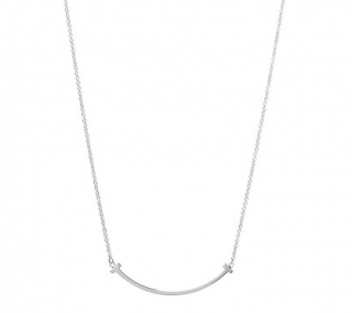 Tiffany & Co. Tiffany T Small Smile Pendant Necklace