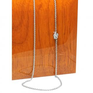 Madame 18ct White Gold Owl Diamond Pendant Necklace