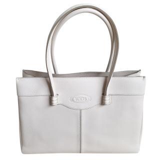Tod's White Mocassino medium tote bag