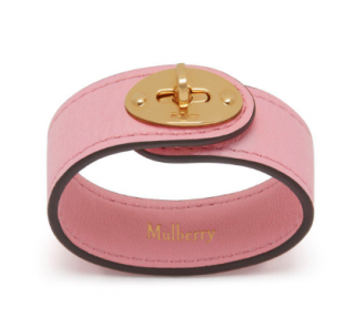 Mulberry Bayswater Leather Bracelet In Sorbet Pink Small Classic Grain