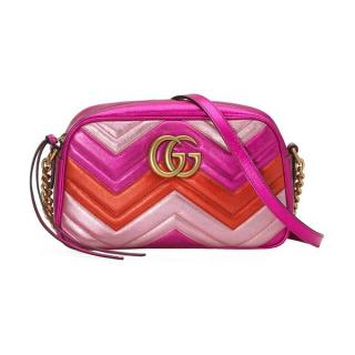 Gucci metallic pink Marmont camera bag