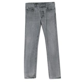 Dior Men�s Grey Denim Straight Cut Jeans