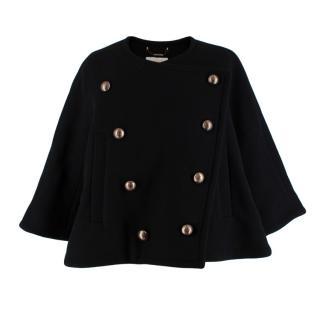 Chloe Black Wool Blend Double Breasted Jacket
