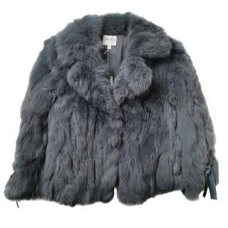 Armani Collezioni Rabbit Fur Short Grey Coat
