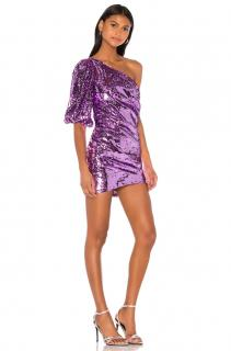 For Love & Lemons Purple Madeleine Sequin Dress