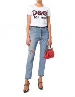 Dolce & Gabbana White Censored Logo T-Shirt